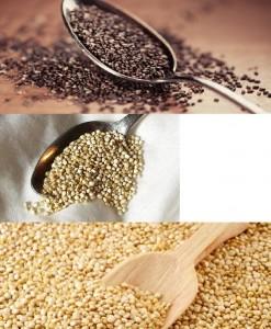 Chia, quinoa, amaranto