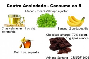 Alimentos contra ansiedade